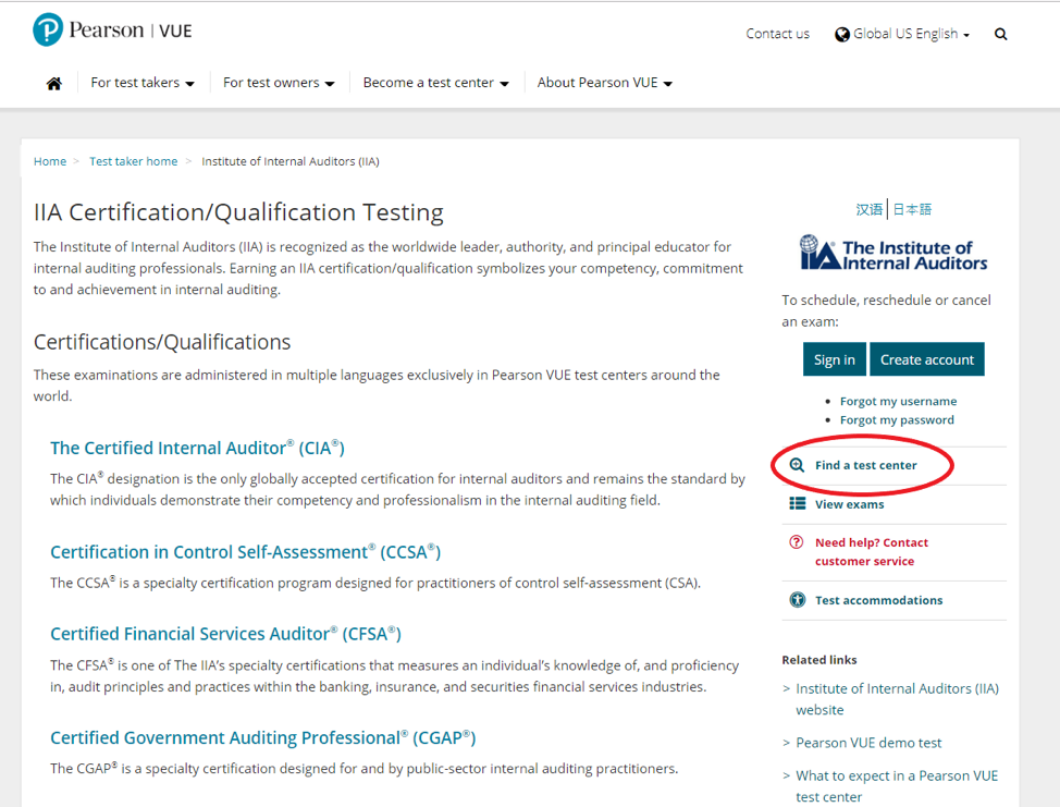 Your CIA Location: Finding Pearson VUE CIA Testing Centers