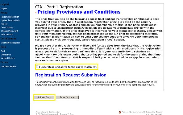 cia exam registration